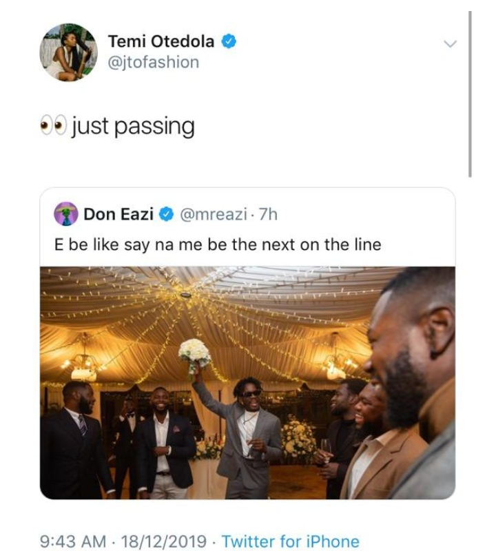 Mr. Eazi Hints Of Wedding, His Billionaire Girlfriend Reacts. 1 - Globecalls.com is a 24/7 Entertainment News Outlet In West Africa Serving Its Readers With The Best In Music, News, Events, And World Happenings.