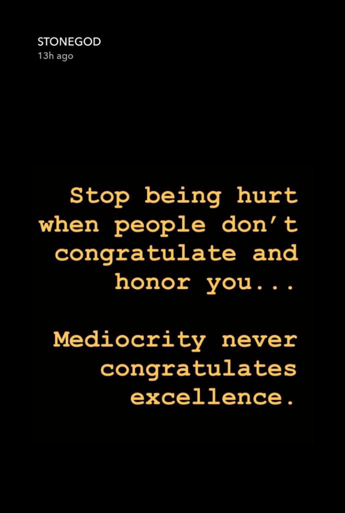 Mediocrity Never Congratulates Excellence - Stonebwoy. 6 » Best Tech News, Gadgets, FinTech and Telco news.