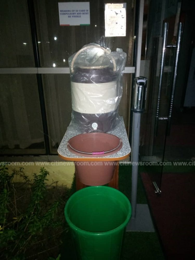 Corona virus: Hand Sanitizers Installed All Around In Jubilee House. 2 » Best Tech News, Gadgets, FinTech and Telco news.