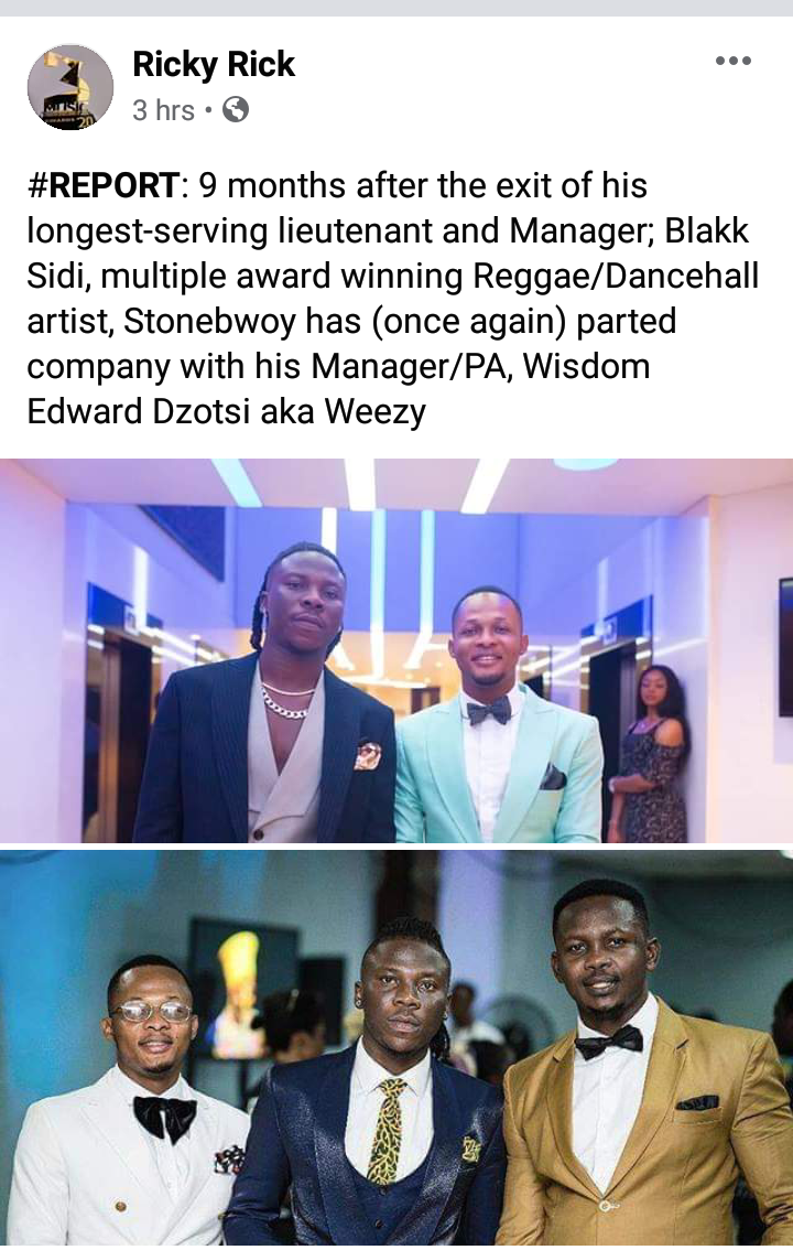 Stonebwoy Reportedly Part Ways With New 'Manager'? 1 - Your source of trusted information.