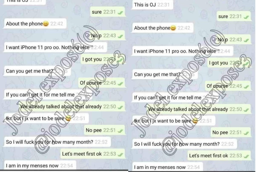 Disgusting Leaked Chat Of University Of Ghana Lady Who Offers Sex For Iphone 2 » Best Tech News, Gadgets, FinTech and Telco news.