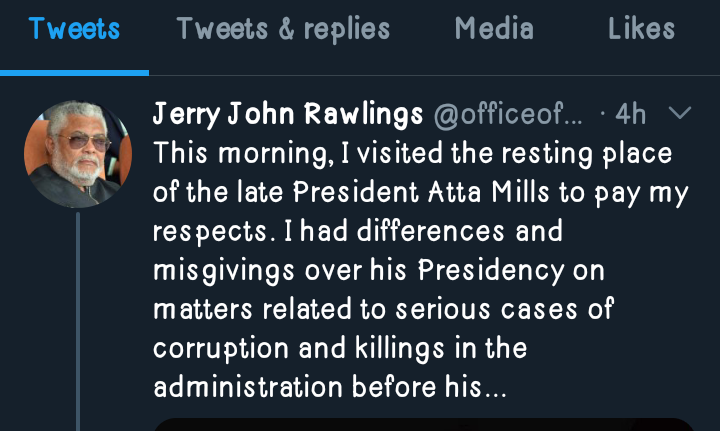 The Atta Mills I Know Was Outstanding.. May He R.I.P - Rawlings 1 - Your source of trusted information.