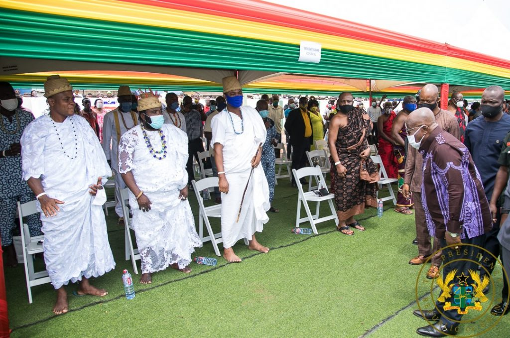 Photos: Nana Addo Cuts Sod For New Projects. 5 - Your source of trusted information.