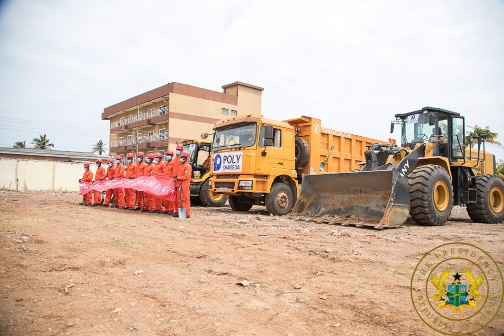 Photos: Nana Addo Cuts Sod For New Projects. 6 - Your source of trusted information.