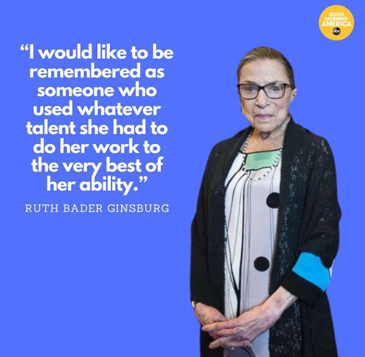 America Mourns Champion Of Gender Equality Bader Ginsburg Who Died At 87. 4 - Your source of trusted information.