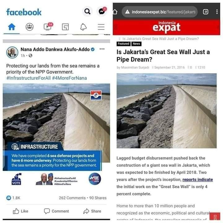 Exposed! Nana Addo Sea Defence Project Exists In Indonesia 5 » Best Tech News, Gadgets, FinTech and Telco news.