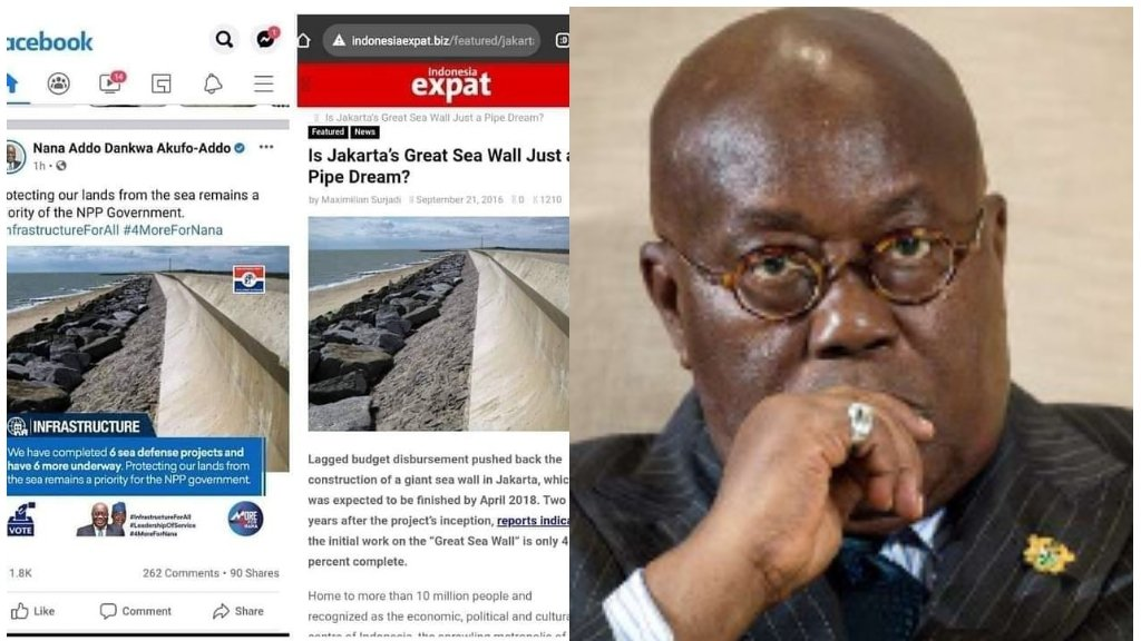 Exposed! Nana Addo Sea Defence Project Exists In Indonesia 4 » Best Tech News, Gadgets, FinTech and Telco news.