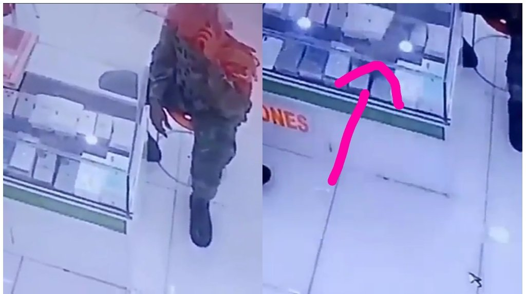 Soldier stole iphone