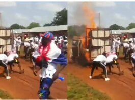 NPP PICK UP CATCHES fire
