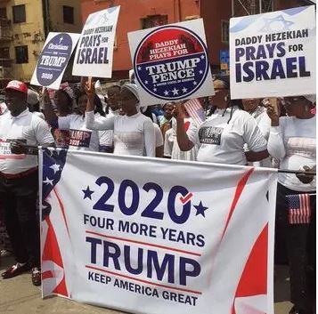 Photos: Nigerian Church Holds Prayer Walk For Donald Trump. 1 - Globecalls.com is a 24/7 Entertainment News Outlet In West Africa Serving Its Readers With The Best In Music, News, Events, And World Happenings.