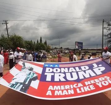 Photos: Nigerian Church Holds Prayer Walk For Donald Trump. 2 - Globecalls.com is a 24/7 Entertainment News Outlet In West Africa Serving Its Readers With The Best In Music, News, Events, And World Happenings.