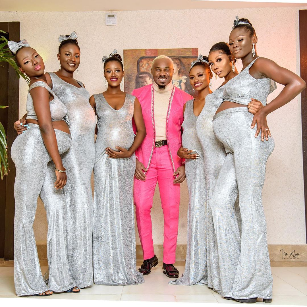 man attends wedding with 6 pregnant ladies
