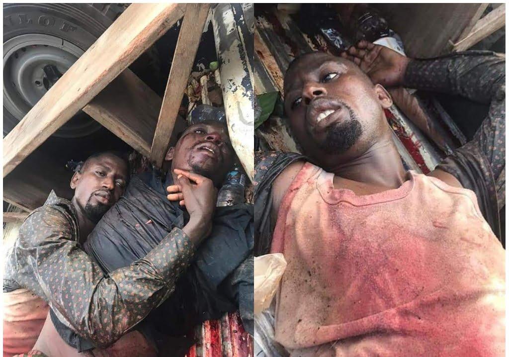 Armed robbers Police gunned 2 highway robbers down