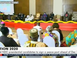 John Mahama at Peace pact