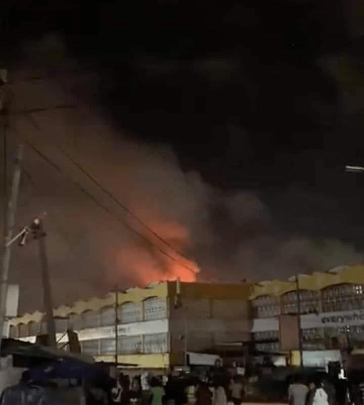 Kaneshie Market on fire