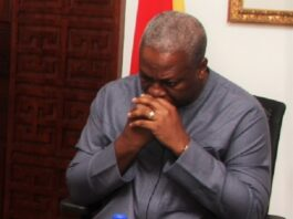 Furious John Mahama, NDC MPs Invisible At Akufo Addo's Swearing in Ceremony