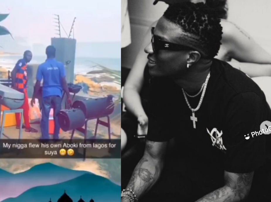 Wizkid Flew His Aboki Into Ghana For 'Suya'.
