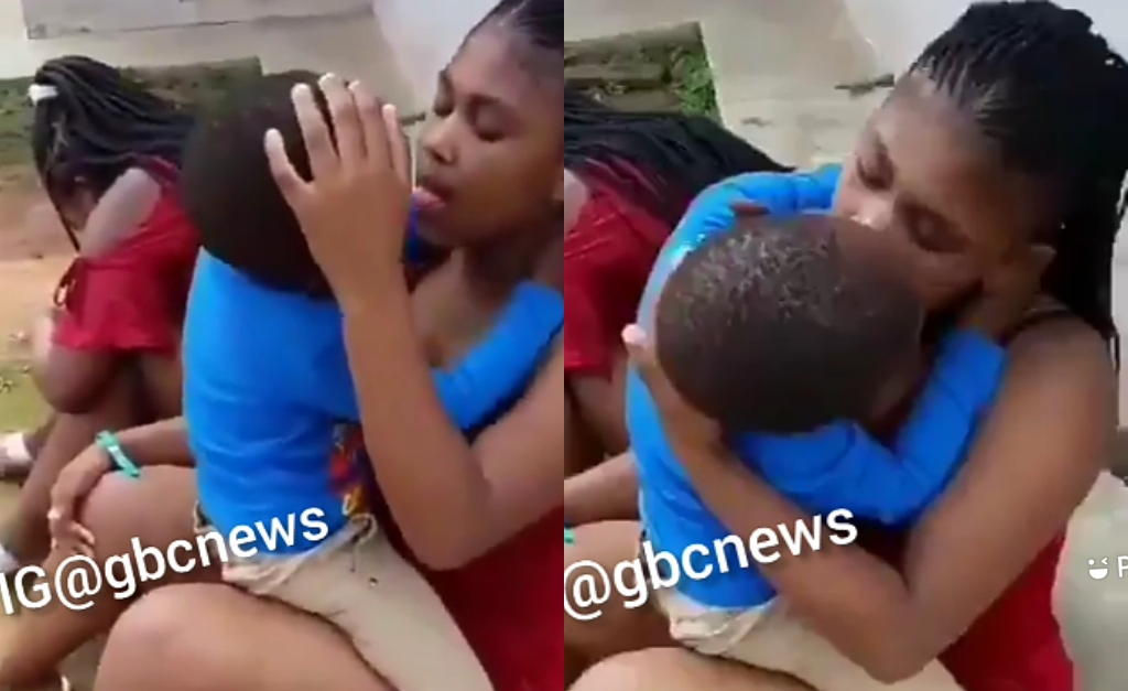 Disgusting! Mother And Little Boy Practices Deep Ki$$ing