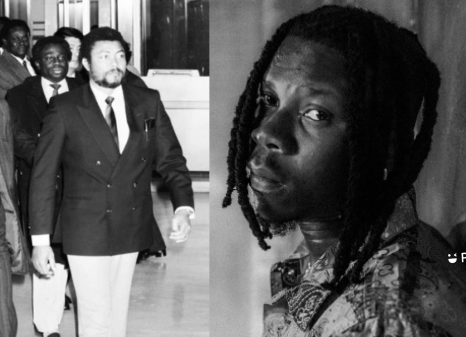 Stonebwoy Sets With A JJ Rawlings' Tattoo
