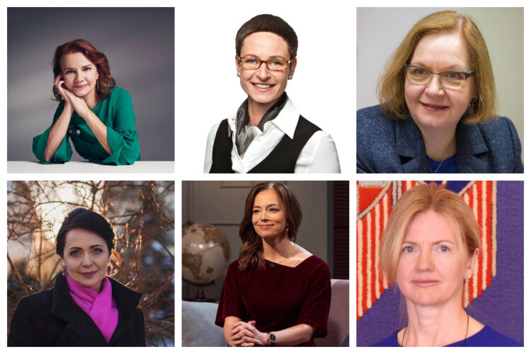 In addition to Kaja Kallas, the new Estonian government will have six female ministers. Clockwise from left: Keit Pentus-Rosimannus (finance), Signe Riisalo (social protection), Maris Lauri (justice), Eva-Maria Liimets (foreign affairs), Liina Kersna (education and research) and Anneli Ott (culture). Collage by Estonian World.