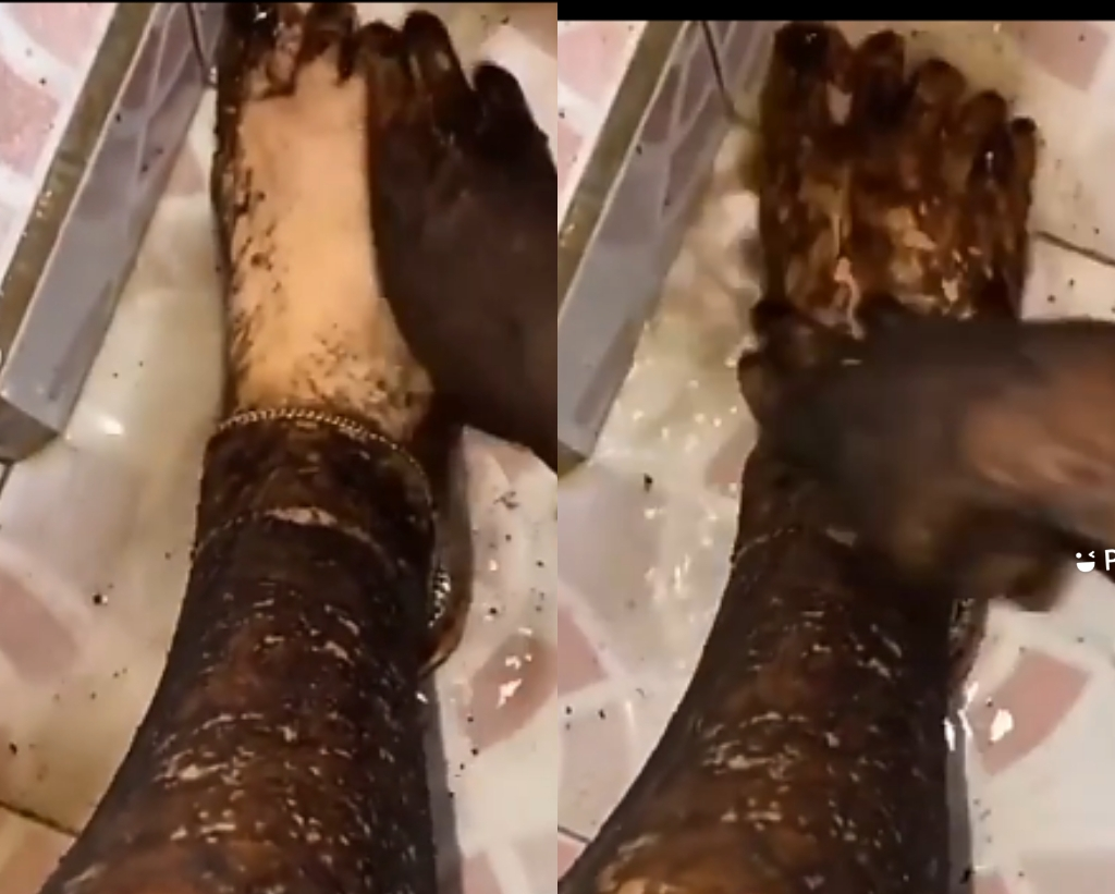 Once Bleached, Forever White? Jaws Drop As Slay Queen Uses 'Magical' Bleaching Cream