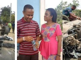 Praise The Lord!: Nigerian Pastor Walk Out Unhurt From A Ghastly Car Accident