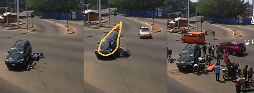 Gory Accident Captured By Street CCTV In Accra.