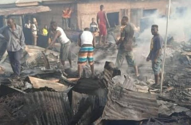 Horrendous Fire Razes Sunyani Timber Market