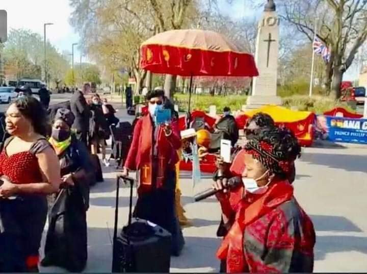 Ghanaians Abroad Mourns Late Prince Philip On The Street Of London.