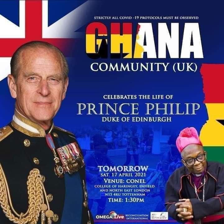 Ghanaians Abroad Mourns Late Prince Philip On The Street Of London. 3 - Globecalls.com is a 24/7 Entertainment News Outlet In West Africa Serving Its Readers With The Best In Music, News, Events, And World Happenings.