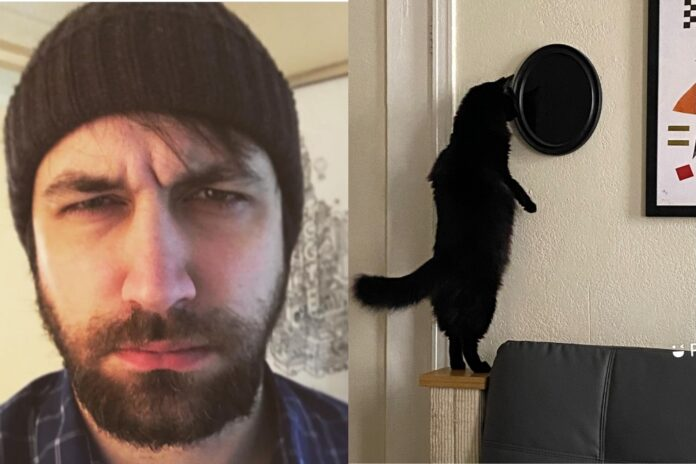 Man Abandons His House After Seeing A Black Cat Staring In An 'Occult Mirror' He Bought.