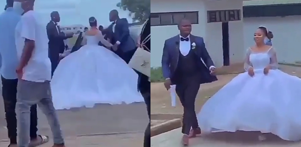 Bride Storms Examination Hall In Her Wedding Gown