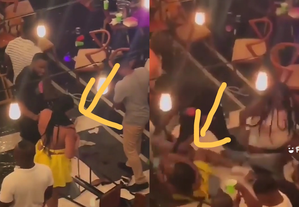 Yaa Asantewaa Lady Beats A Man At Bloombar