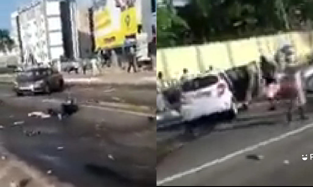 Tragic Incident As Driver Loses Control, Run Into Hawkers At Airport Traffic