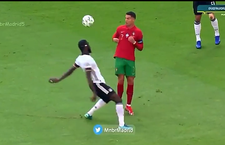 Cristiano Ronaldo sends Rudiger Searching For The Ball