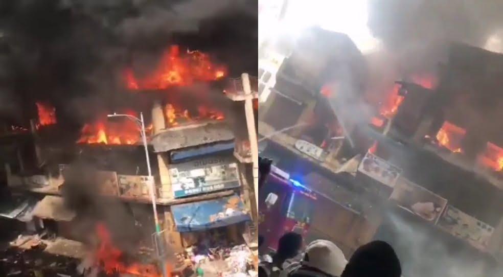 Fire Raged Down Scores Of Shops At Makola