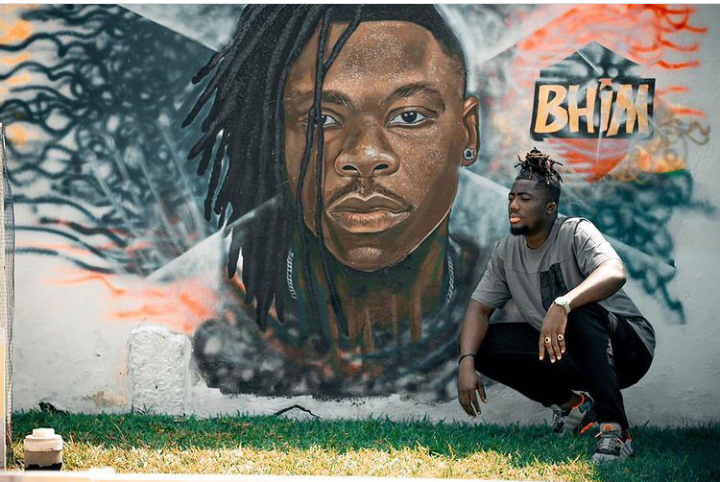 Benjamin Of Date rush Fame Explains Why He Painted Stonebwoy's Image On His Garden Walls