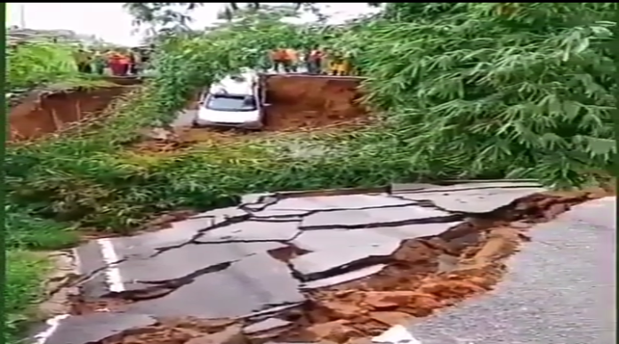Main Road Collapses At Ellembelle District Of Western Region