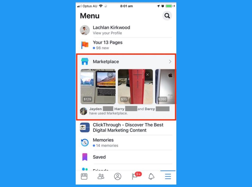 Facebook Market Place And The New Tweaks